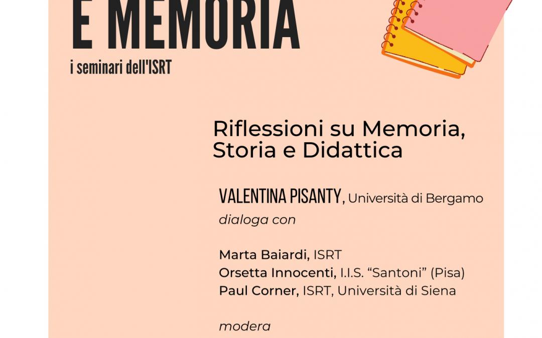 Tra Storia e Memoria. Seminario con Valentina Pisanty.