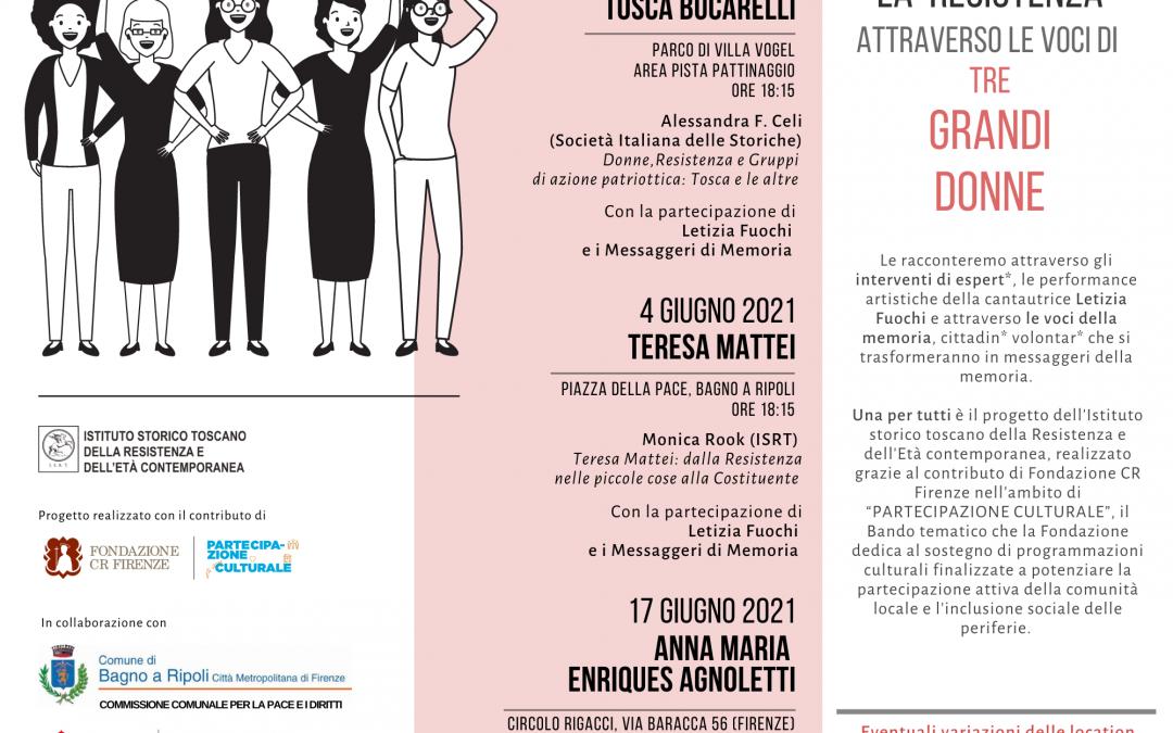 """Le donne della Resistenza al centro del primo ciclo di """"Una per tutti"""": il calendario degli incontri."""