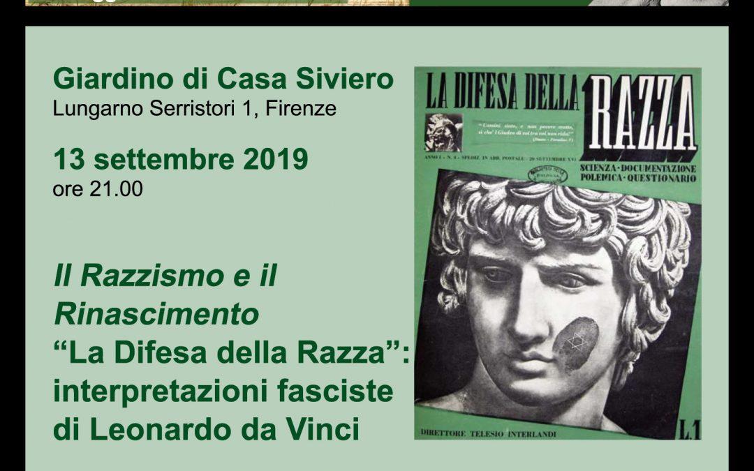 """Il Razzismo e il Rinascimento. """"La Difesa della Razza"""": interpretazioni fasciste di Leonardo da Vinci."""