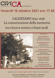 Calenzano 1944-1948 La conservazione della memoria fra ricerca storica e fonti orali