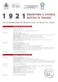 1921. Squadrismo e violenza politica in Toscana. Convegno storico.