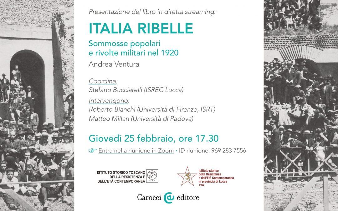 """""""Italia ribelle."""" Presentazione del libro di Andrea ventura"""