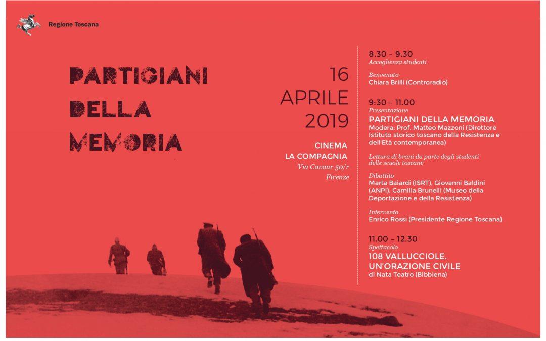 """""""Partigiani della Memoria"""": presentazione del libro e spettacolo teatrale sulla strage di Vallucciole"""